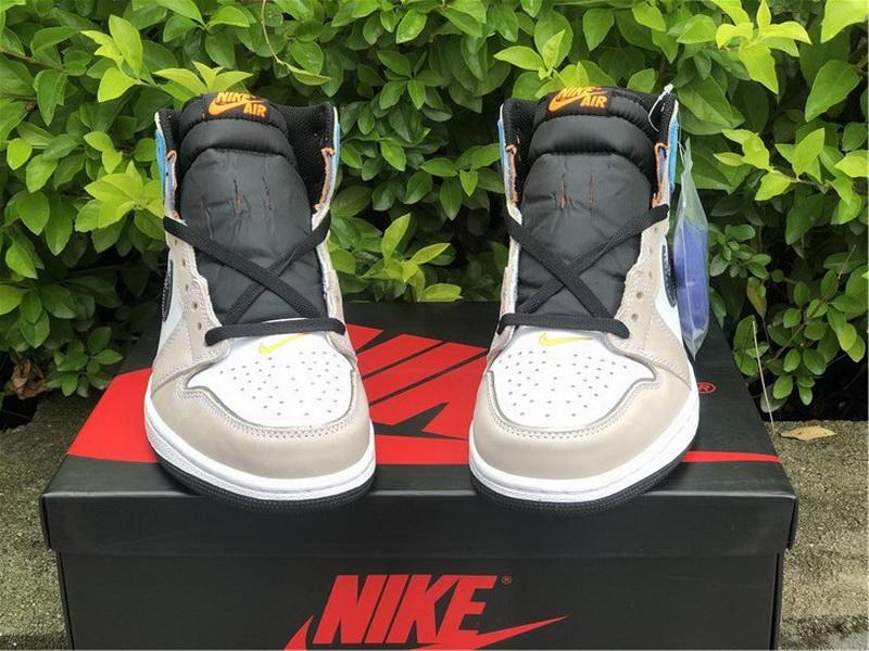 Authentic Air Jordan 1 High OG Pro Multi-Color