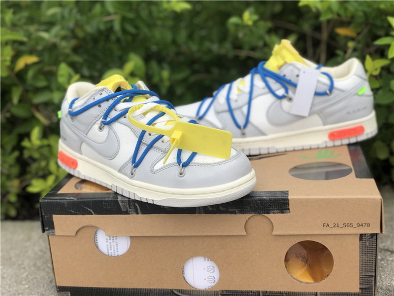 Authentic Off White x Nike Dunk Low The 50 Grey