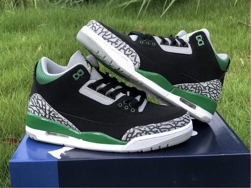 Authentic Air Jordan 3 Pine Green