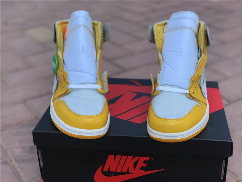 Authentic Off White x Air Jordan 1 White Yellow